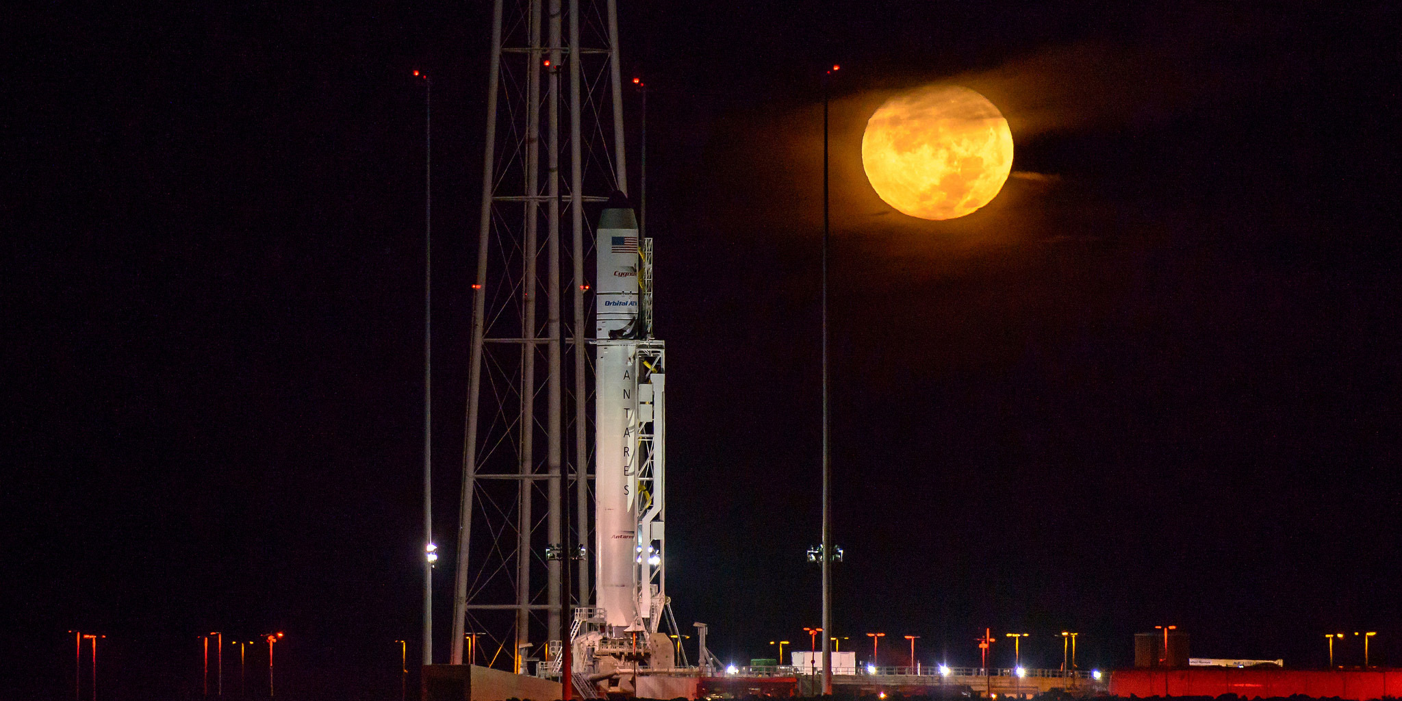 The Orbital ATK Antares rocket before launch, October 2016
