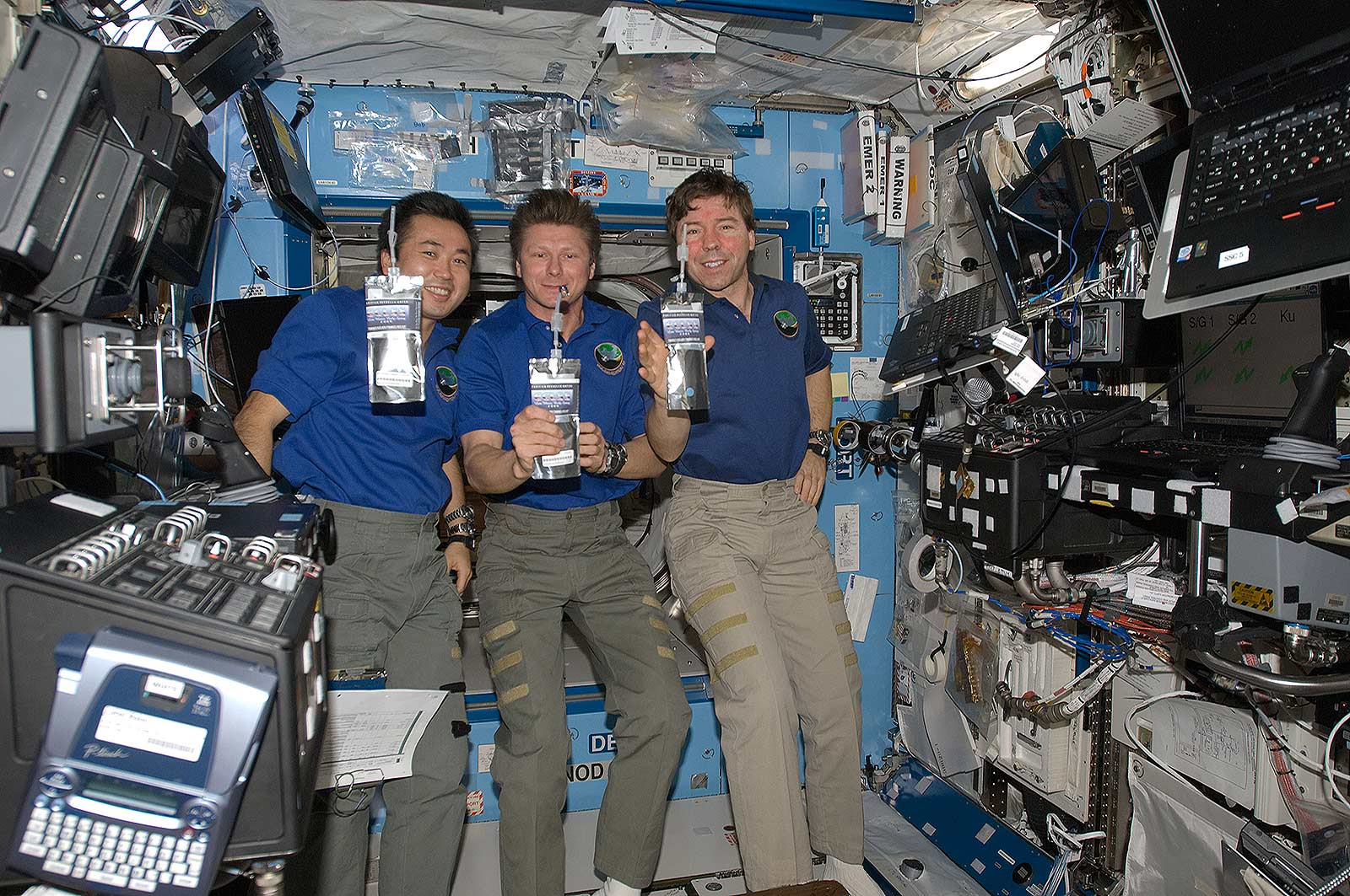 astronauts water pouches