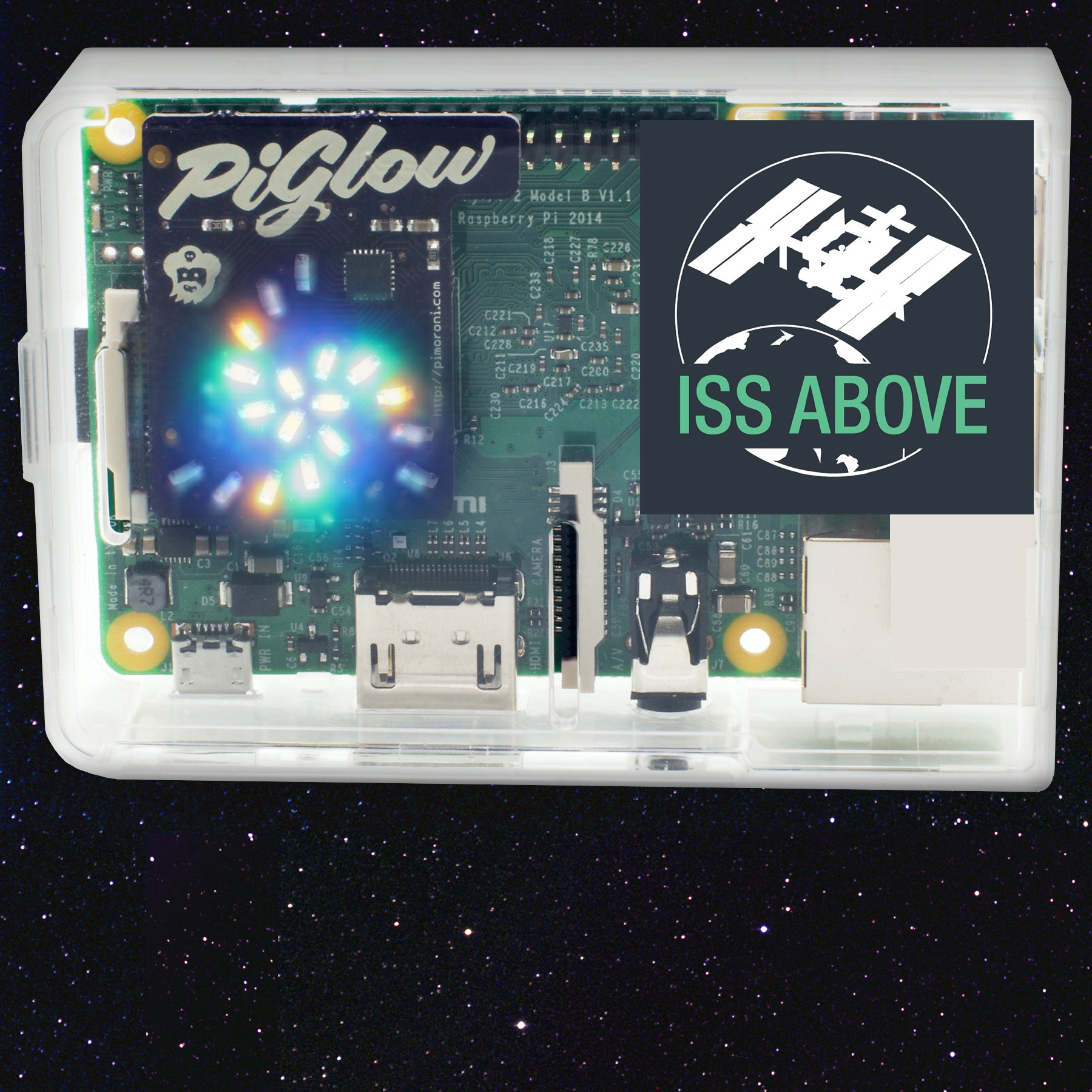 iss above unit glow in square