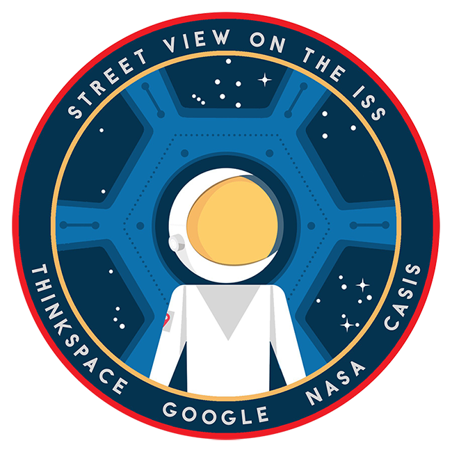 ISS Street View Mission Patch Celebrates Collaboration of Google Thinkspace NASA CASIS