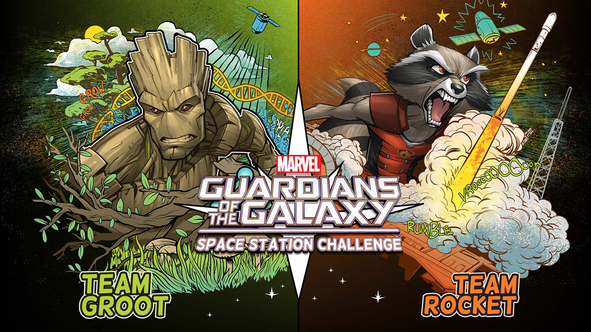 guardians challenge groot rocket