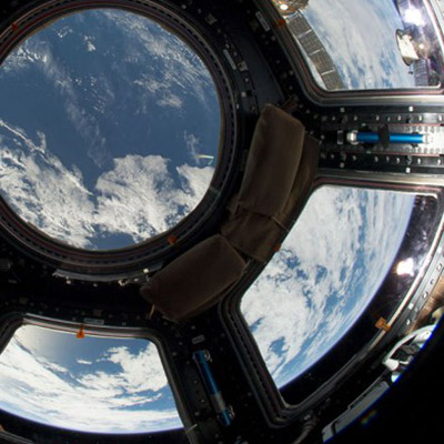 View of Earth from Cupola on ISS