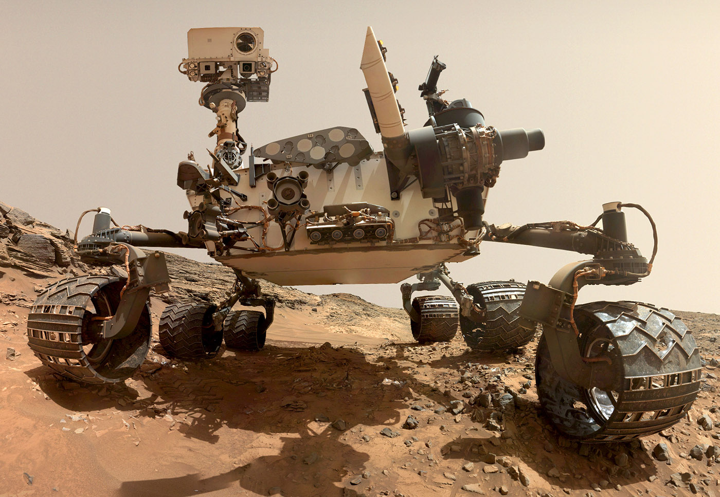 Curiosity rover portrait wide