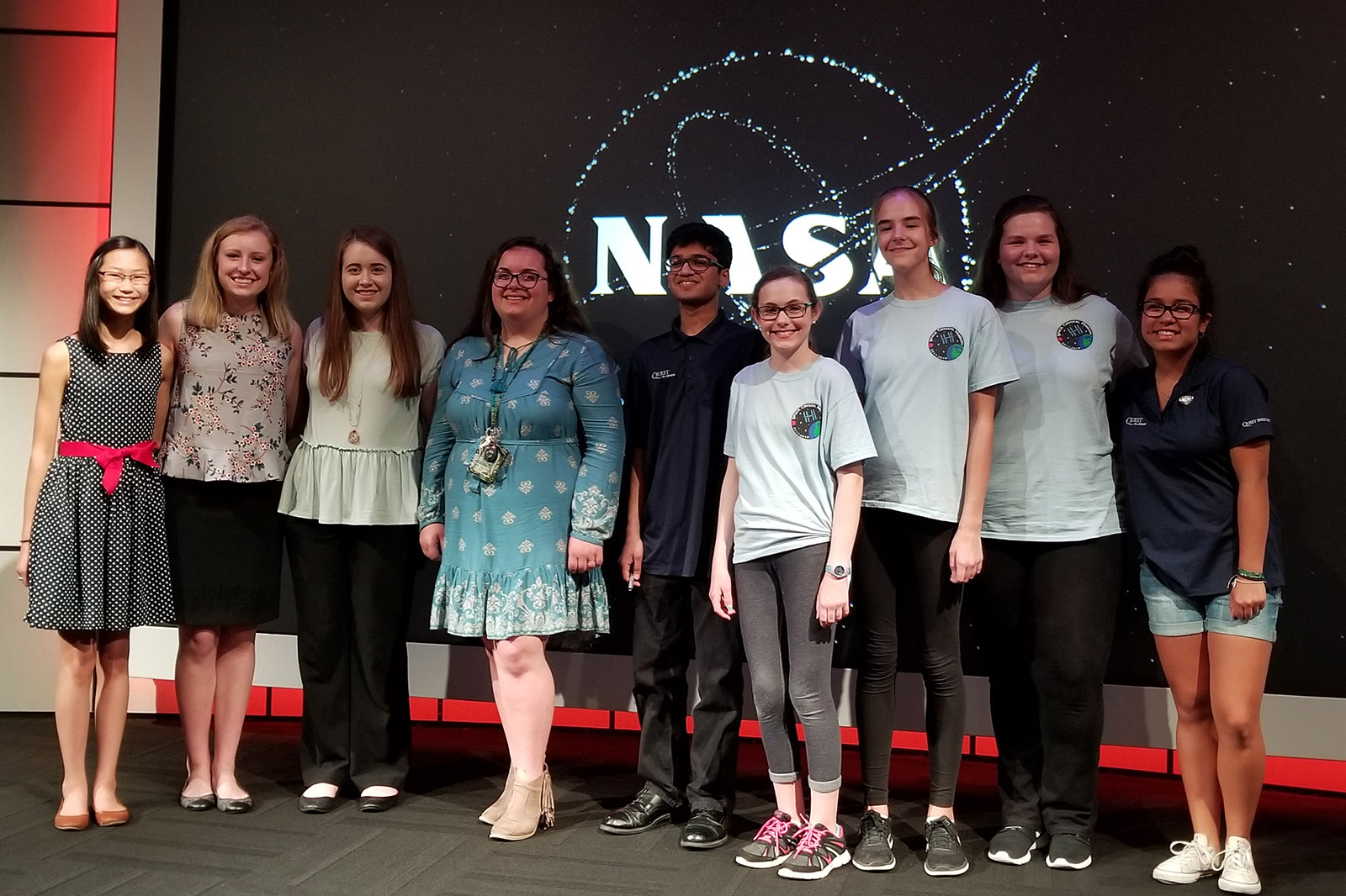 SpaceX CRS-14 student stage presenters KSC