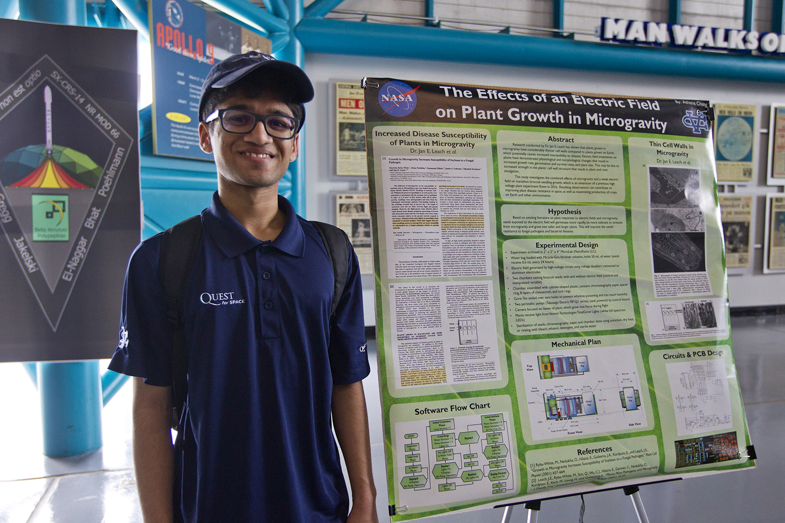 SpaceX CRS-14 launch student Mihir plants