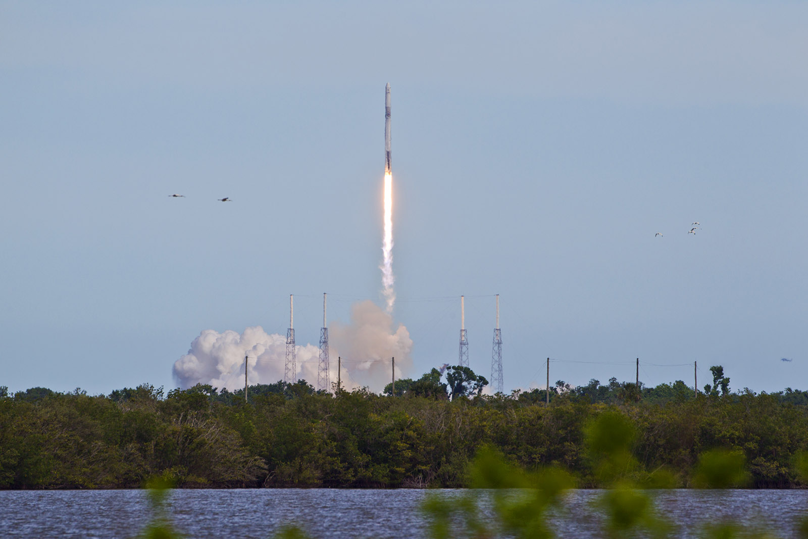 SpaceX CRS-14 launch Falcon rocket Dragon ISS