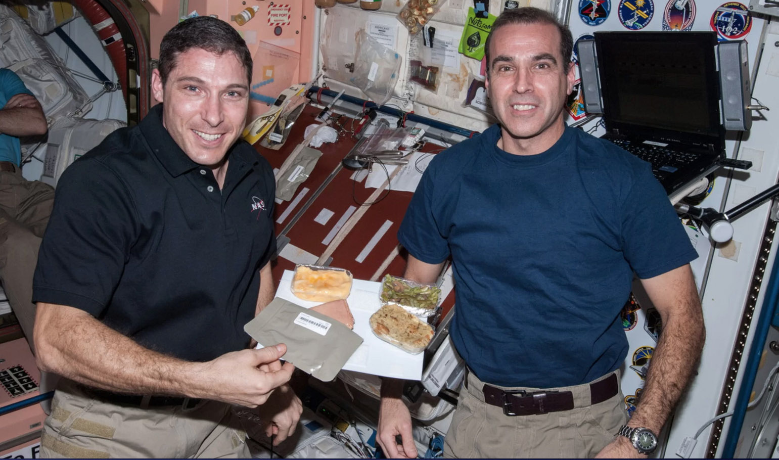 astronauts Hopkins Mastracchio Thanksgiving foods 2013 NASA