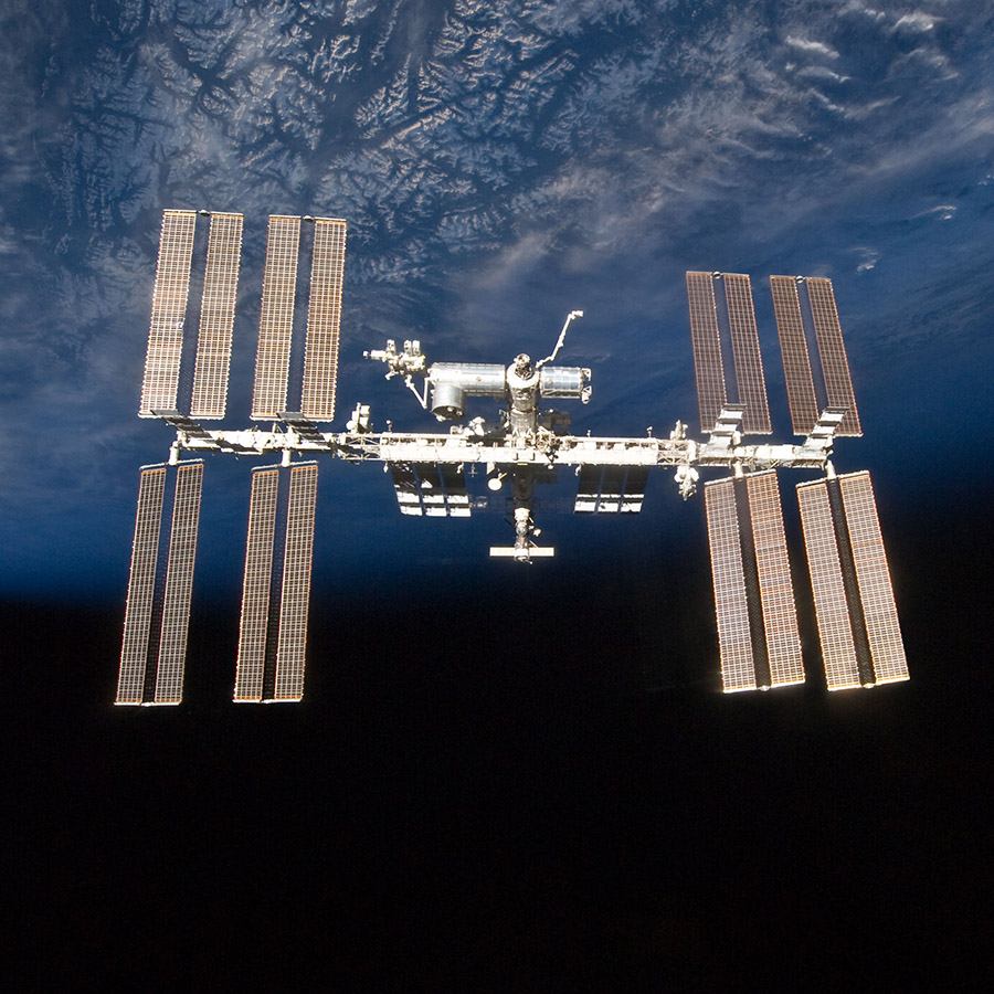 ISS exterior darkblueearth square