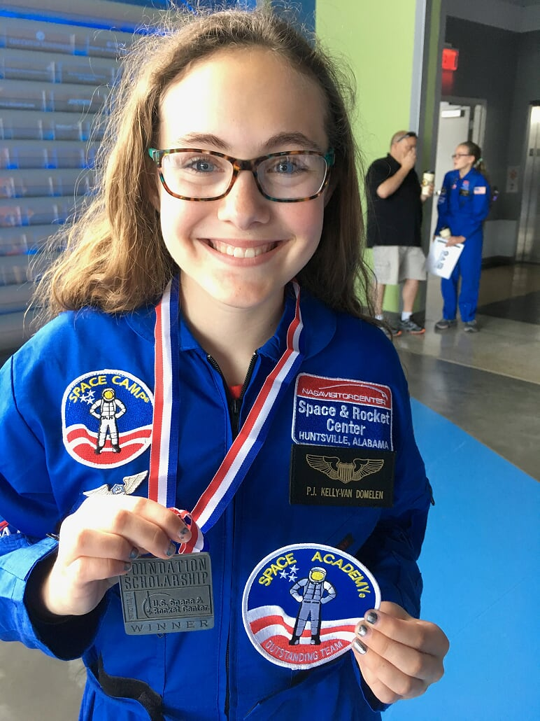 Payton KVD Space Camp scholarship