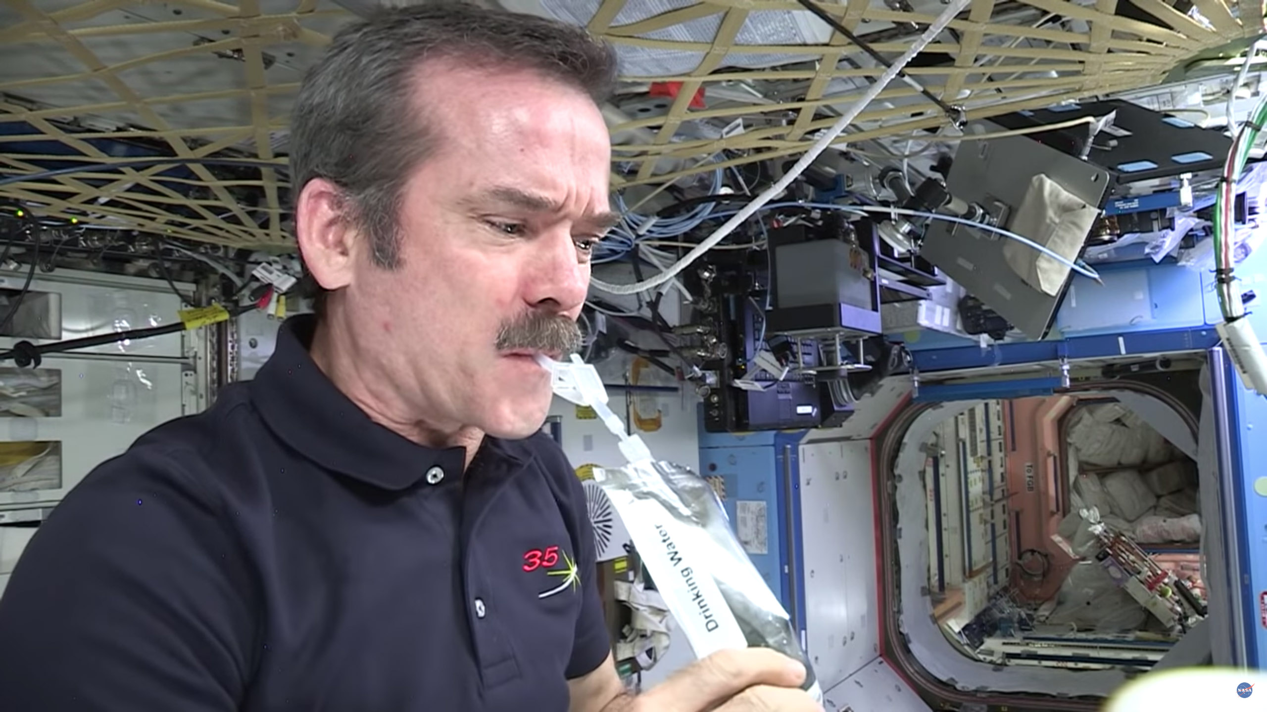 chris hadfield seriously drinking water