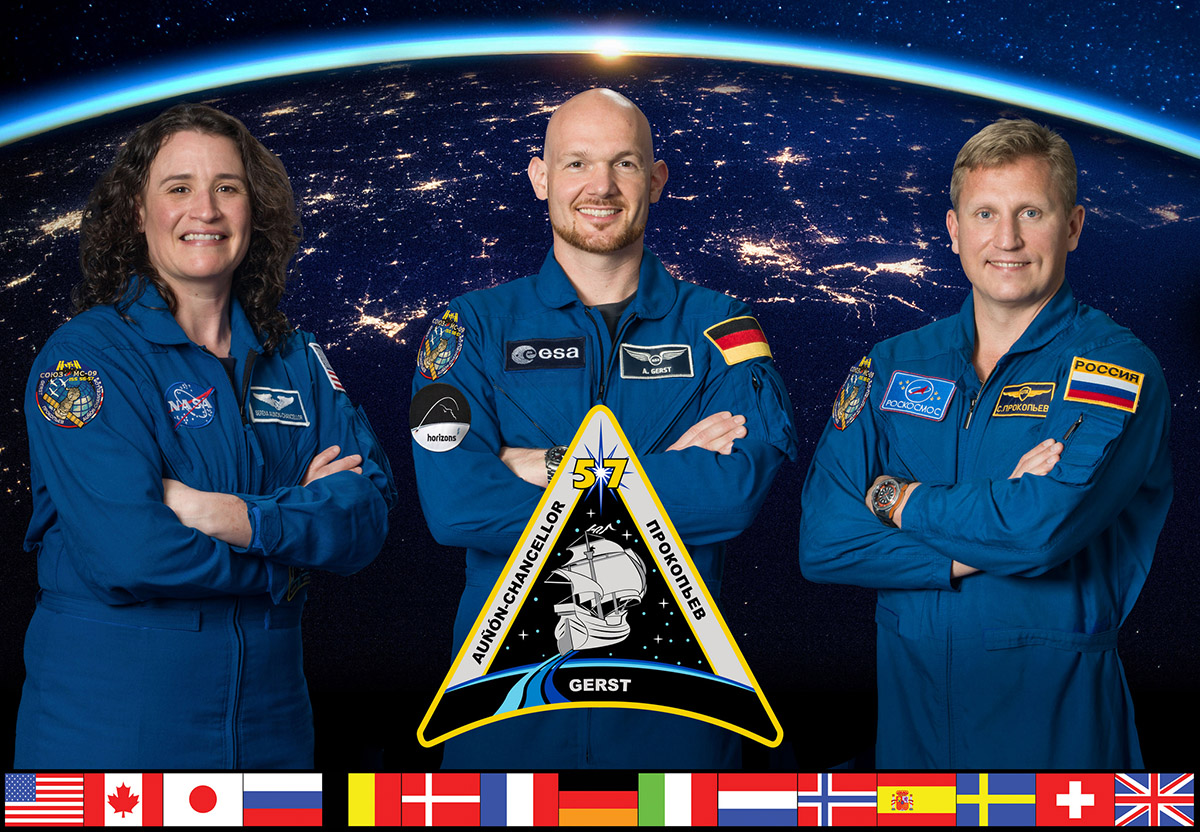 ISS Expedition 57 crew