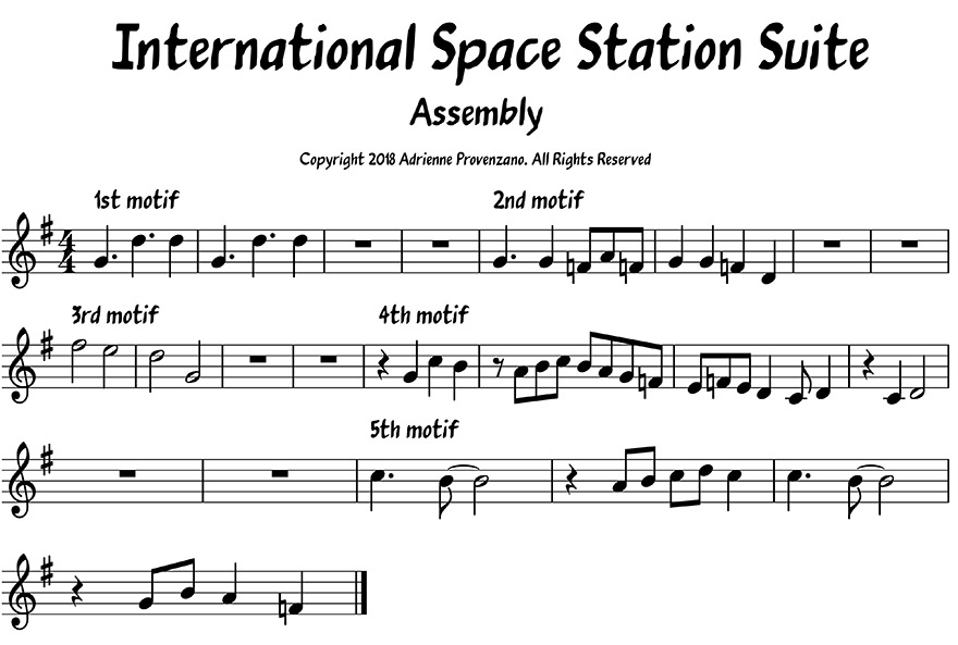 Assembly from ISS Suite sheet music